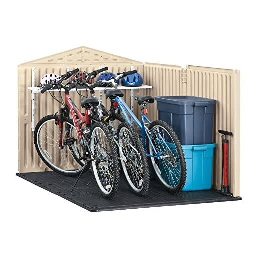 Garden and Outdoor Rubbermaid Slide-Lid Resin Weather Resistant Outdoor Garden Storage Shed for Backyard, Garden, Tool Storage, Lawn… outdoor storage sheds