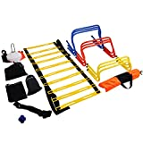 Popsport Football Training Kit Agility Training Kit Combo Set Football Training Equipment Sports Fitness Training Equipment with Carry Bag for Junior and Senior Training (Football Training Kit)