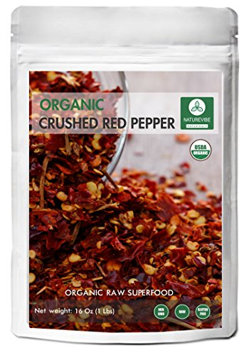 Naturevibe Botanicals Organic Crushed Red Pepper, 1lbs - Non GMO and Gluten Free | Adds Taste and Flavor [Packaging may Vary] ()