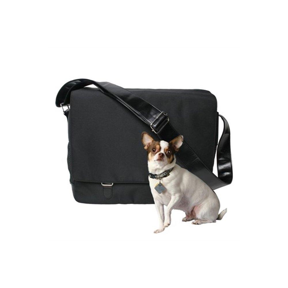Bark-n-Bag Outback Messenger Collection Pet Carrier, Black