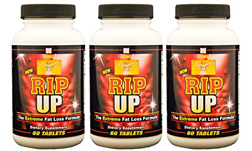 Rip Up - Extreme Fat Loss, Extra Strength 6-in-1 Weight Loss Supplement with Garcinia Cambogia Extract with HCA, Forskolin Extract, Green Tea Extract, Guarana extract, Theobromine, Yerba Mate, Enhanced with Traditional Appetite Balancing and Herbal Diuret by Sandco