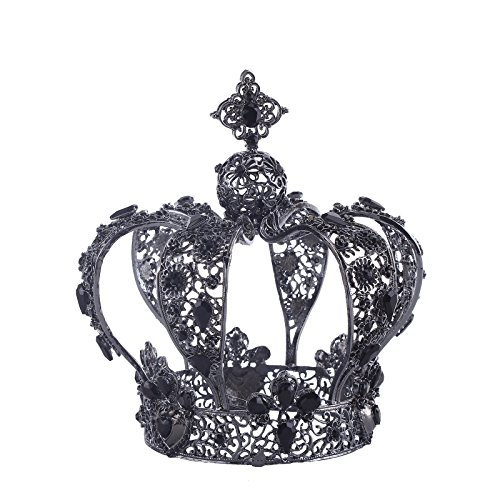 Vintage Exquisite Rhinestone Crystal Full Crown Tiara Headband