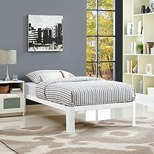 LexMod MOD-5467-WHI Corinne Twin Bed Frame, White