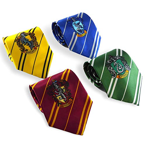 Rubie's Harry Potter House Ties Set of 4 - Hogwarts Student Costume Accessories