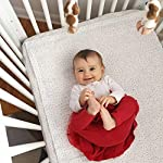 QuickZip-Crib-Extra-Zip-On-Sheet-SecureFit-Wraparound-Base-Not-Included-Faster-Safer-Easier-Baby-Crib-Sheets-Gray-Dot-100-Cotton-Fits-All-Standard-Crib-Mattresses