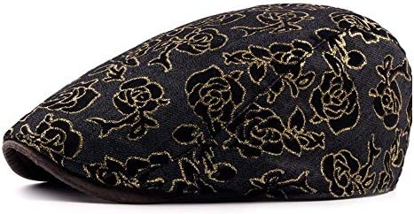 帽子 ハンチング帽子 メンズ レディース キャスケット 調整可能 男女兼用 SGSJP (Color : ブラック, Size : 56-58cm)