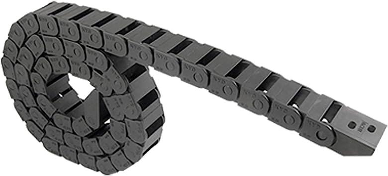 Chaine de cable de remorquage SODIAL Chaine de cable de remorquage en plastique de machines-outils noir 15 x 20 mm R