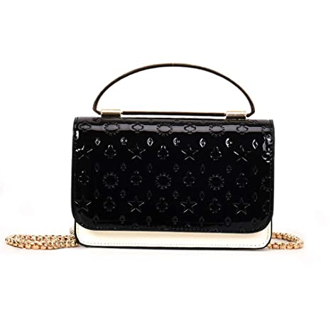 a8cea8fb672b Amazon.com: Cujubag Leather Women Messenger Bags Chain Shoulder Bag ...