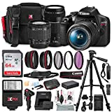 Canon T7 EOS Rebel DSLR Camera with 18-55mm and 75-300mm Lenses...
