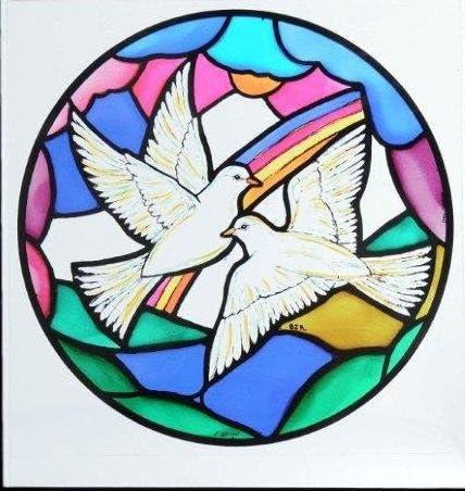 Decorativos de vidrio esmerilado ventana estática se aferra en un ...