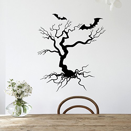 StOrE_hApPy Hallowen Tree Glass Window Decor Wall Sticker Party House Home Decoration