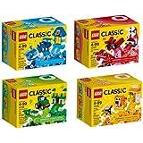 レゴ(LEGO)クラシック アイデアパーツ 青 赤 緑 オレンジ 10706 10707 10708 10709 4個セット