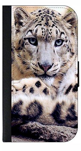 Snow Leopard - Wallet Style Flip Phone Case Compatible with s3/s4/s5/s6/s6edge/s7/s7edge/s8/s8Plus - Select Your Compatible Phone Model