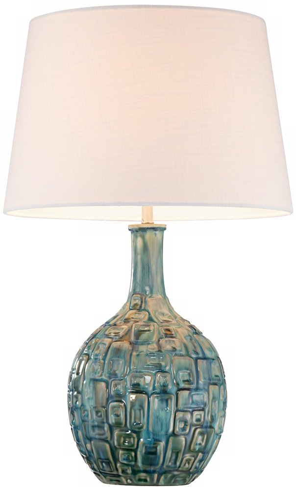 Completely new Mid-Century Teal Ceramic Gourd Table Lamp - - Amazon.com CU77