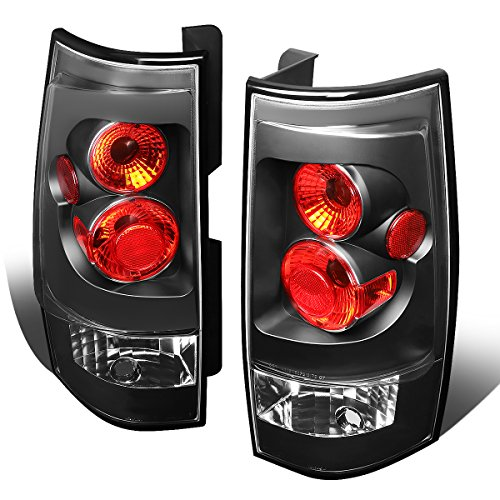 Suburban Parking Light (For 2007-2014 Chevy Suburban/Gmc Yukon XL Black Housing Altezza Style Tail Light Brake/Parking Lamps)