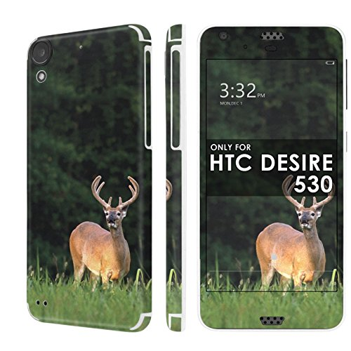HTC Desire 530 Skin [NakedShield] Scratch Guard Vinyl Skin Decal [Full Body Edge] [Matching WallPaper] - [Deer Hunting] for HTC Desire 530