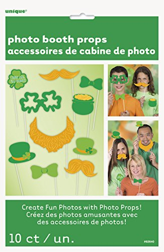 [St. Patrick's Day Photo Booth Props, 10pc] (Leprechaun Photo Prop)