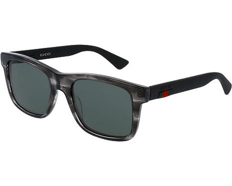 Gucci 0008 S Gris Noir Vert  Amazon.fr  Vêtements et accessoires e436ad2e575c
