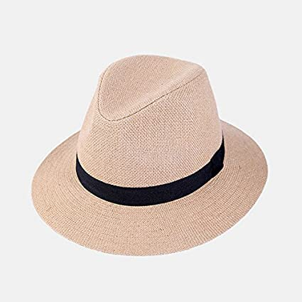 23ab6983bd5 Amazon.com   ALWLj Summer Hats For Women Fedora Jazz Cap Beach Sun Panama  Hat With Ribbow Band Sunhat Fashion   Sports   Outdoors