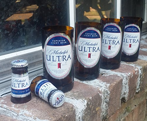 set-of-4-upcycled-michelob-ultra-glasses-and-2-shot-glasses