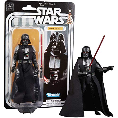 Disney Star Wars Black Series 40th Anniversary Collection Darth Vader - 6 Inches Action Figure - Movie-Like Detailing - Includes One Figurine - Posable Arms, Legs, and Head - Designed for Ages 4 Plus ()