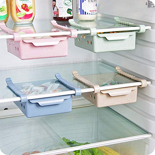Gotian New Kitchen Article Storage Shelf Refrigerator Drawer Shelf Plate Layer, Saving Space and Keep Neat - 1x Storage Rack (17 X 15.5 x 7cm / 6.696.102.75