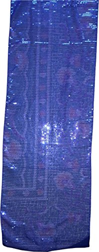 KVR Eco environment friendlly Jute burlap table runner for wedding, party, dining and home decoration, (120 Inch Long (10 ft), Sequin - Royal - Perth Australia Tiffany