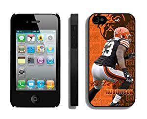 NFL&Cleveland Browns-Craig Robertson San Diego Chargers v Cleveland S7bqwalqotx iPhone 4 4S Case Gift Holiday Christmas Gifts cell phone cases clear phone cases protectivefashion cell phone cases HLNKY605583252