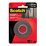 Scotch Extremely Strong Mounting Tape, 414DC-SFEF, 1 in x 60 in (2.54 cm x 1.52 m)