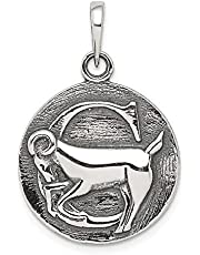 925 Sterling Silver Antique Finish Capricorn Horoscope Pendant Charm Necklace Zodiac Fine Jewelry For Women Gifts For Her