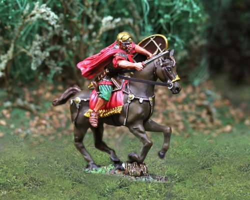 Roman Toy Soldiers Cavalry Charging Collectors Showcase Toy Soldiers Painted Metal Figure 54mm-56mm CS00735