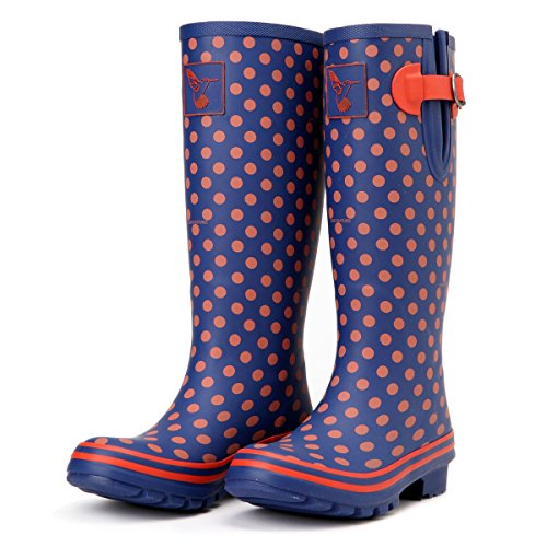 Womens Color Boot Multisun Evercreatures Womens Solid Evercreatures Poka Rain Dots qHEnfZ