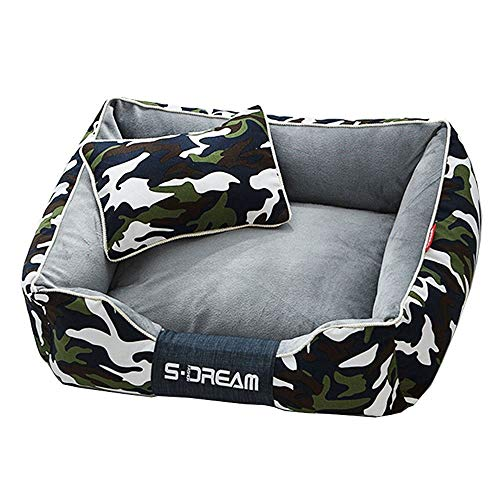WEAO Camouflage Both Sides Dual Use Waterproof Washable Cat Nest Kennel Dog Mat Available in All Seasons, 3 Sizes, 2 Colors (Color : Camouflage Green, Size : L) ()