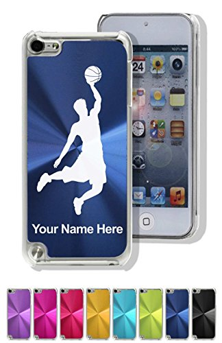 Case for iPod Touch 5th/6th Gen - Basketball Slam Dunk Man - Personalized Engraving Included ()