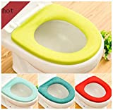 Singleluci 1 PC (Random Color) Washable Bathroom Closestool Soft Warmer Mat Cover Pad Cushion Toilet Seat