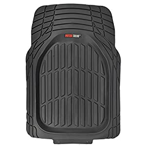 Motor Trend MT-923-BK_NMM FlexTough Contour Liners - Deep Dish Heavy Duty Rubber Floor Mats for Car SUV Truck & Van - All Weather Protection (Black)