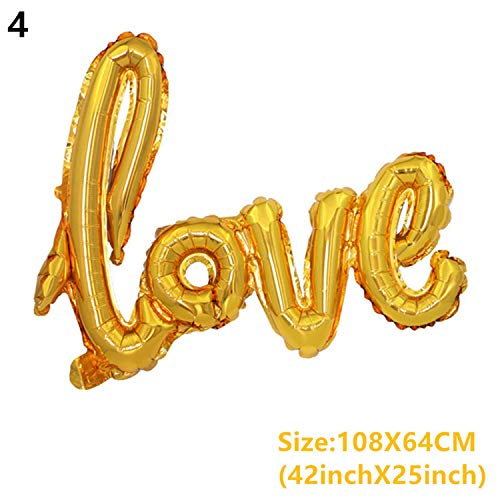 Love Foil Balloon Anniversary Balloon For Wedding Decoration Bachelorette Birthday Party Decorations Adult Event Party Supplies 4-Love gold from Micca Bacain