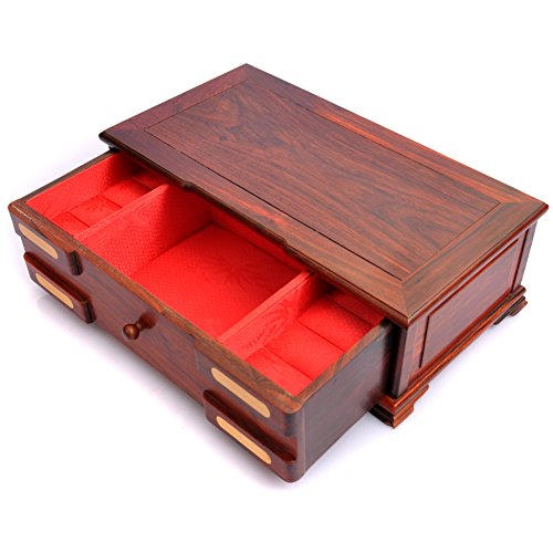 bracelet Bangle jade Emerald Onyx ring box Red flat carved jewelry boxes flip classical Chinese jewelry boxes ()