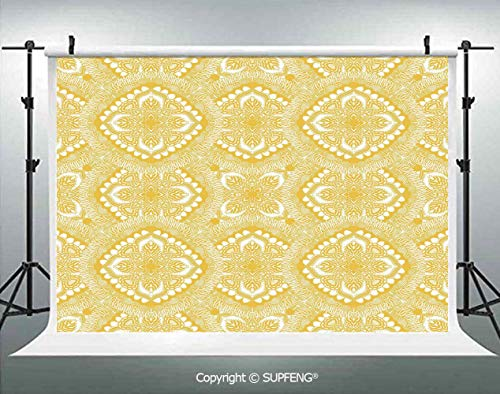 Background Oriental Doily Napkin Motifs Featured Asian Decorative Elements Curves 3D Backdrops for Interior Decoration Photo Studio Props