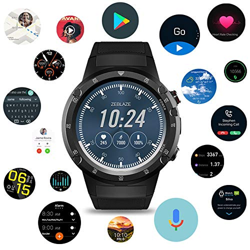 LAIHUI Technology Smart Watch Phone Sports Men Smartwatch,1.4 inch OLED Display, Compatible with iOS and Android, Google Assistant (Black)