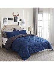 Kuzmaly Ultra-Soft Comforter Set, All Seasons Striped Bed Comforter Set, Luxury Comforter Complete Bedding Set