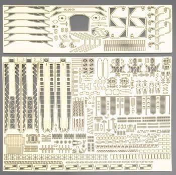 11181 1/350 PE Parts Set B IJN Carrier Battleship ISE