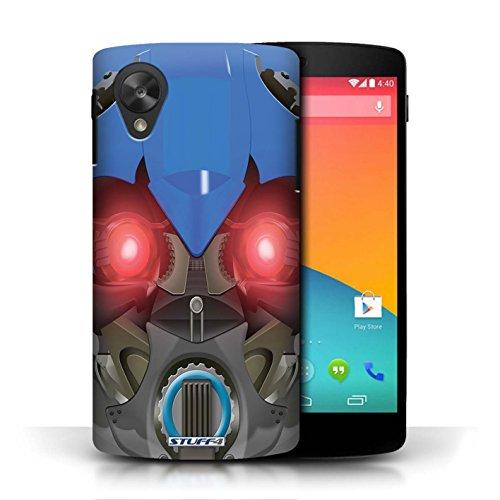 Etui / Coque pour LG Google Nexus 5/D821 / Bumble-Bot Bleu conception / Collection de Robots