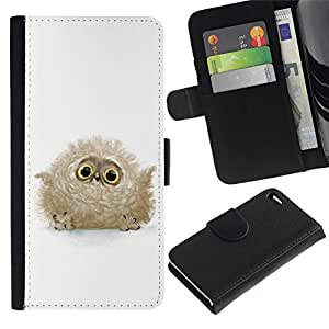 All Phone Most Case / Oferta Especial Cáscara Funda de cuero Monedero Cubierta de proteccion Caso / Wallet Case for Apple Iphone 4 / 4S // Cute Baby Owl