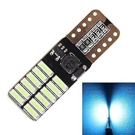 Luz del coche, MZ T10 4.8W 720LM Ice Blue Light 24 SMD 4014 LED sin errores Canbus luces de liquidació n, DC 12-24V MZ T10 4.8W 720LM Ice Blue Light 24 SMD 4014 LED sin errores Canbus luces de liquidación BMD-Light