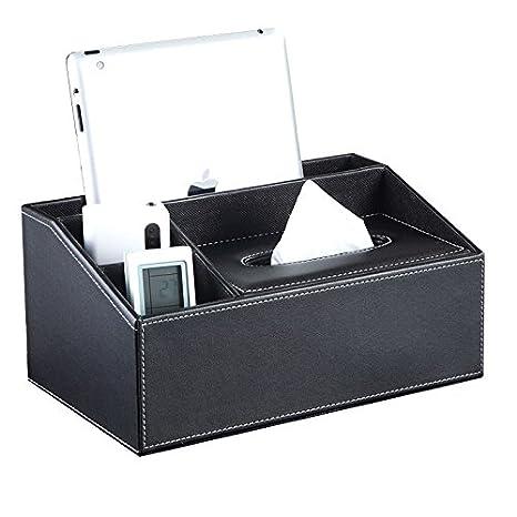 UnionBasic - Organizador multifuncional de piel sintética para escritorios de oficina con espacio para guardar un
