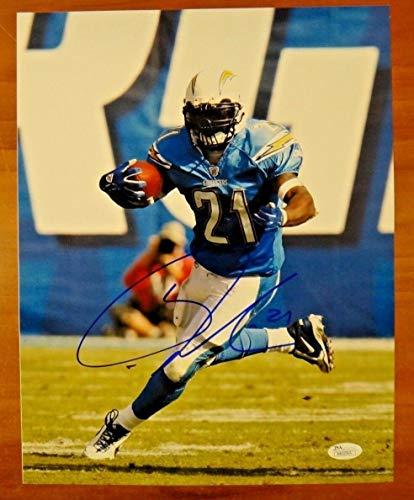 Ladainian Tomlinson Autographed Signed Football Photo 11x14 San Diego Chargers Memorabilia - JSA - Football Ladainian Tomlinson Signed
