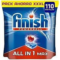 Finish Powerball All in 1 Max - Pastillas para el lavavajillas todo en 1 - formato 110 unidades