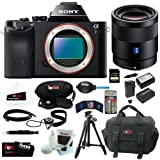 Sony 36.3 MP a7R ILCE7R/B ILCE7RB ILCE7R Full-Frame Interchangeable Digital Lens Camera (Body Only) + Sony SEL55F18Z Sonnar T FE 55mm f/1.8 ZA Lens + Sony 64GB SDXC Memory Card + Accessory Kit