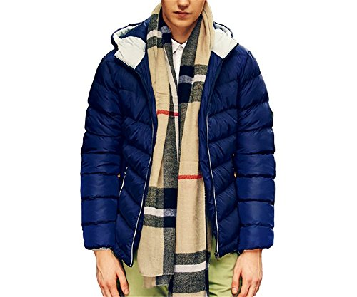Men's Outerwear Jackets & Coats Boy's Cotton Padded Zip Quilted Light Hooded Sportswear (Mens Zip School Uniform)